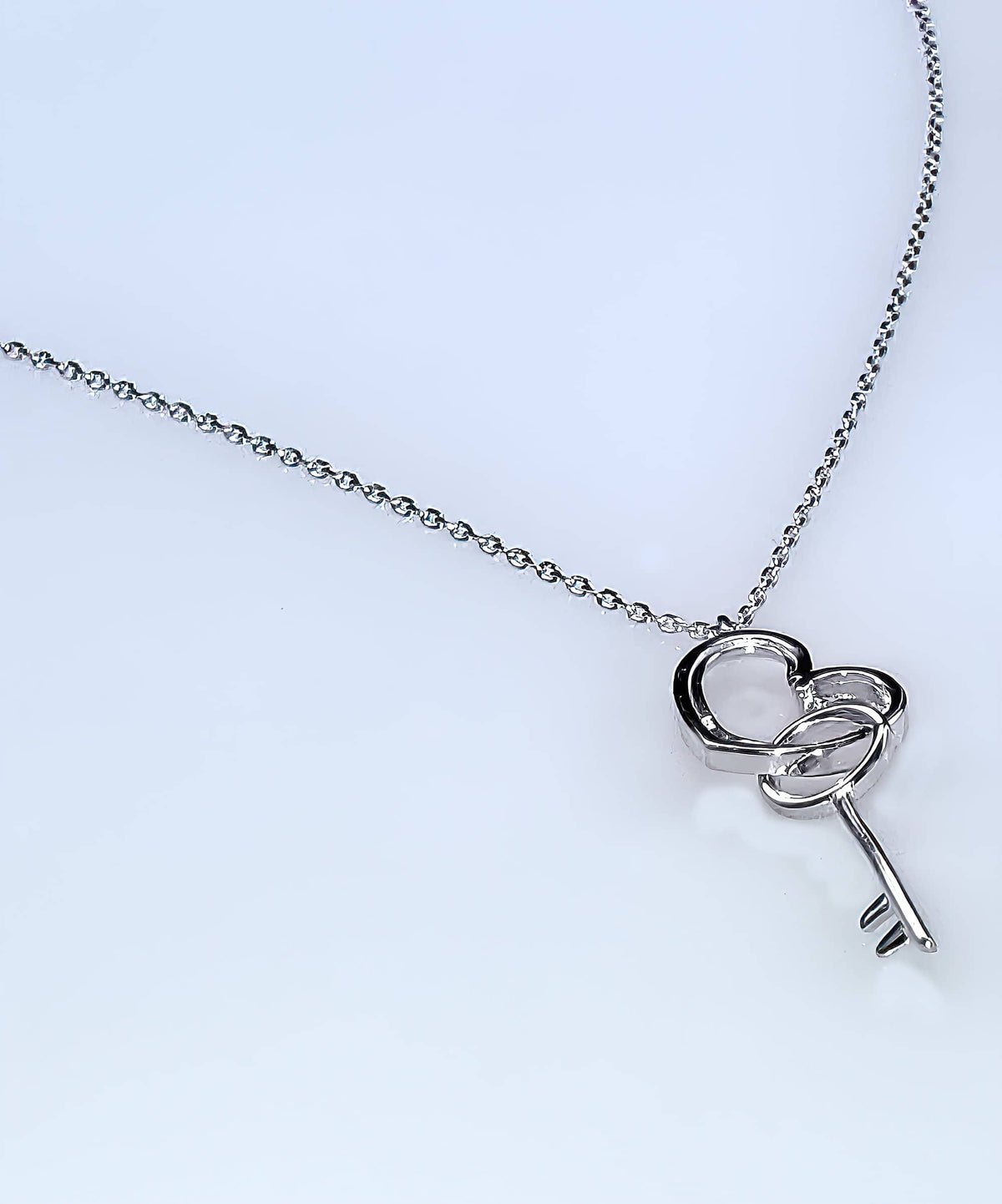 Heart & Key Sterling Silver Necklace