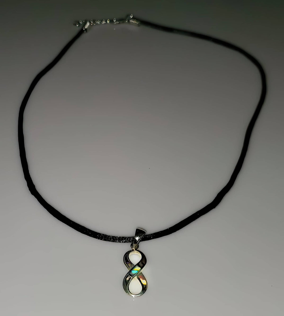 Abalone Infinity 925 Solid Sterling Silver Necklace (4703078023262)