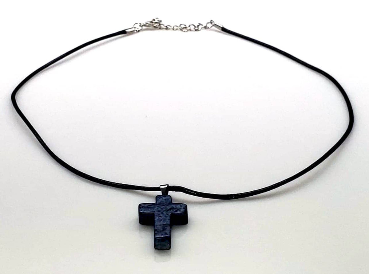 Gemstone Cross Rope Chain Necklaces in 15 Variations Free Shipping from the USA (3932911927390)