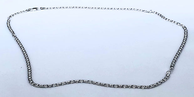 Italian Made Mariner Chain 060-2.3MM  .925 Solid Sterling Silver Necklace (4589169770590)