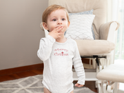 "Infant Long Sleeve Bodysuit ""Merry Christmas"" in 4 colors and 4 Sizes (4339303776350)"