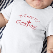 "Infant Long Sleeve Bodysuit ""Merry Christmas"" in 4 colors and 4 Sizes"