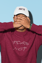 "Heavy Blend™ Crewneck Sweatshirt ""Fear Not"" in 12 Colors and 8 Sizes (4403922108510)"