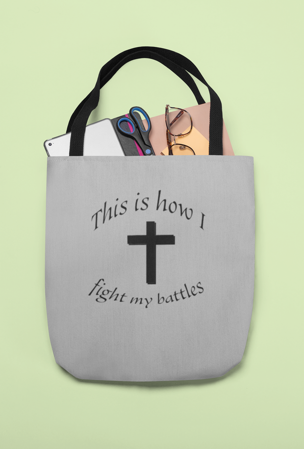 "AOP Tote Bag ""Battles"" in 3 Sizes"