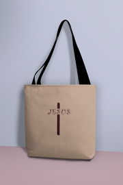 "AOP Tote Bag ""Jesus Cross"" in 3 Sizes"