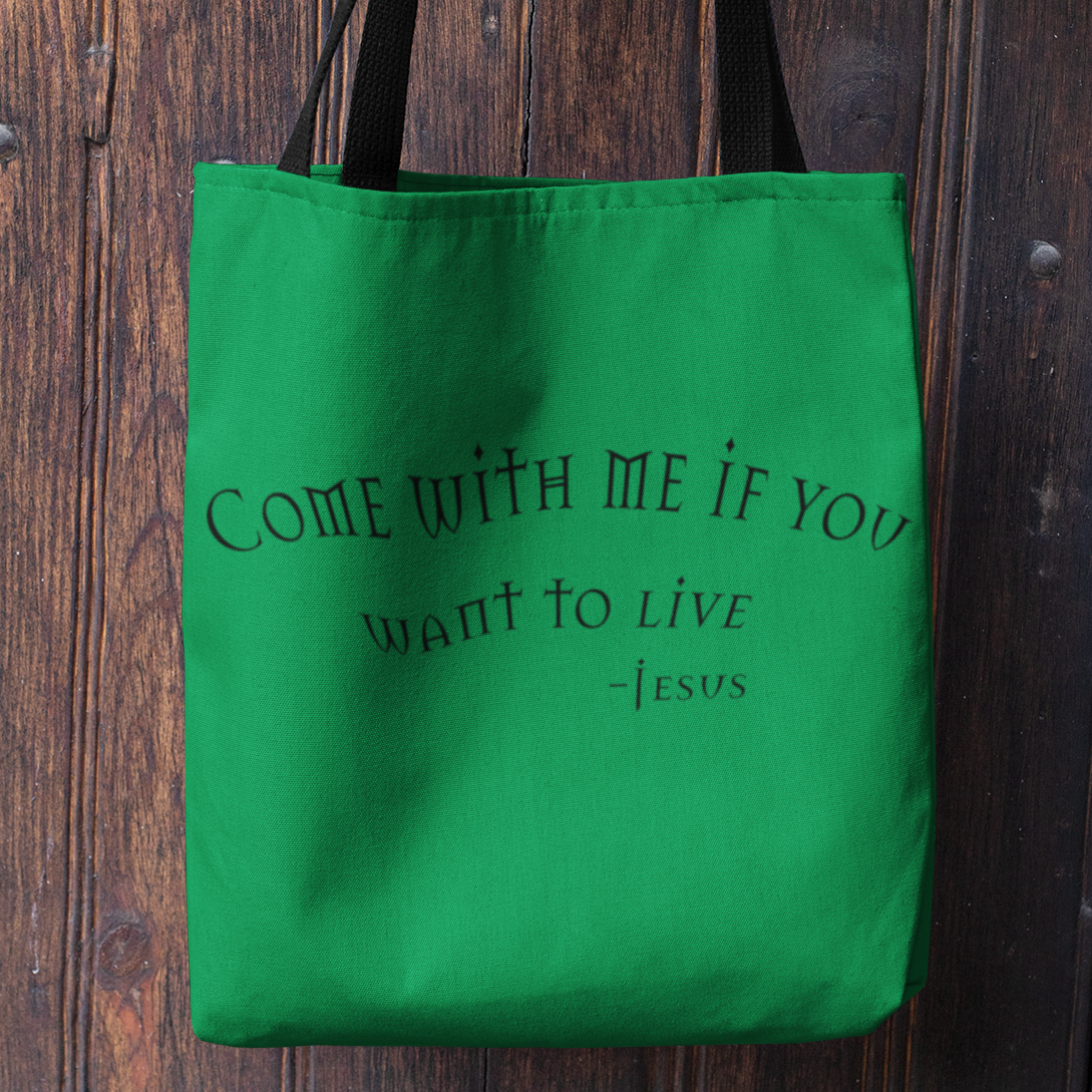 "AOP Tote Bag ""Come with Me"" (6100164149440)"