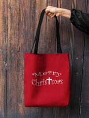 "AOP Tote Bag ""Merry Christmas"" in 3 Sizes"
