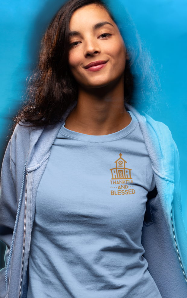 6004 Bella + Canvas Ladies Favorite T-Shirt Thankful and Blessed 10 Colors 5 Sizes T-Shirts (3010795667556)