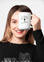 "White Ceramic Mug ""Disturbing"""
