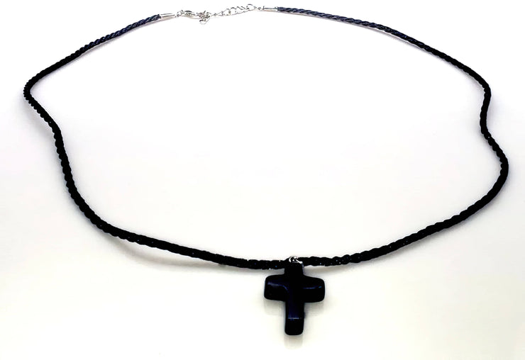 Obsidian Gemstone Necklace (4579758276702)