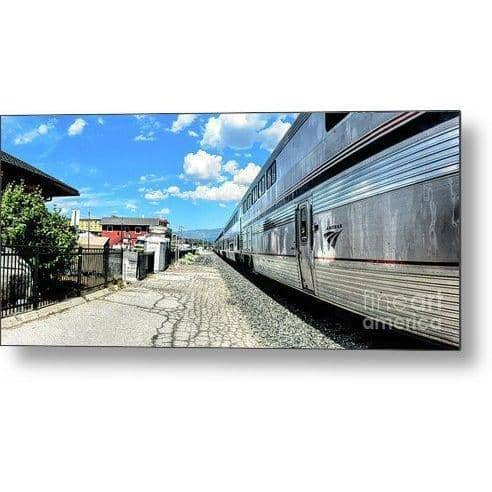 Metal Print Outbound From Truckee 16.000 x 7.125 Metal Print
