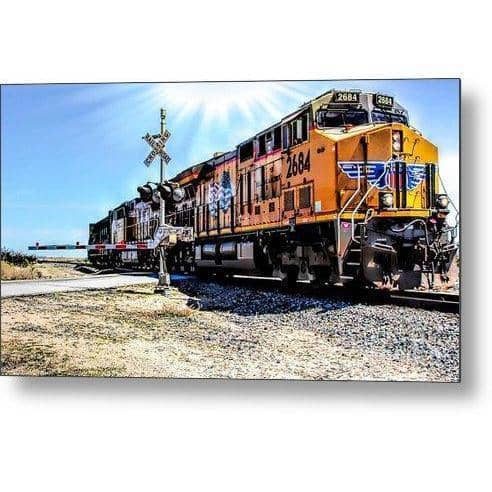 Metal Print Portrait Of A Train 12.000 x 6.750 Metal Print