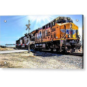Acrylic Print Portrait Of A Train 12.000 x 6.750 / Aluminum Mounting Posts Acrylic Print