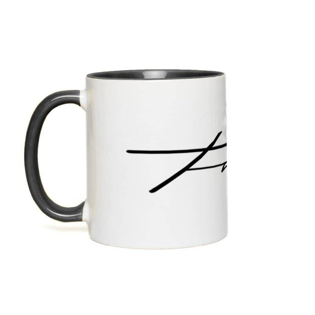 Accent Mug Faith 11 oz Black Accent White Mug Accent Mug
