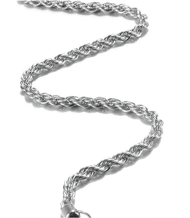 925 Sterling Silver Necklace 3MM 16-26 inch Rope Chain Free Shipping from the USA (4329549201502)