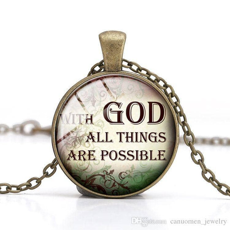 Bible Quote Necklace 6 Different Quotes - Free Shipping from the USA