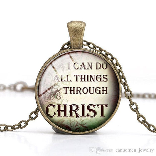 Bible Quote Necklace 7 Different Quotes - Free Shipping from the USA (3930746191966)
