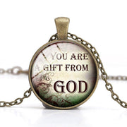 Bible Quote Necklace 7 Different Quotes - Free Shipping from the USA