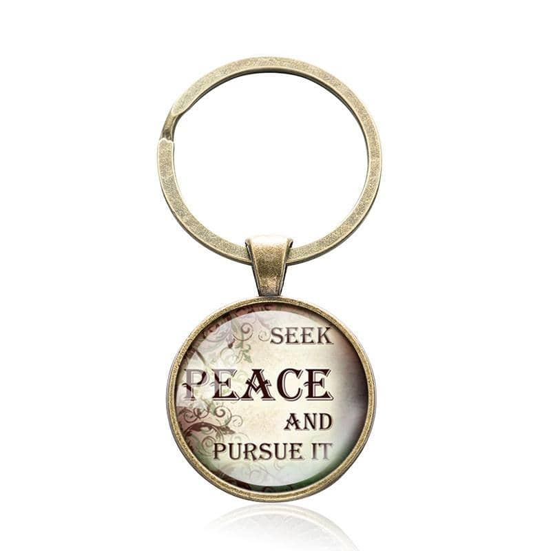 Bible Quote Keyrings with 5 Different Quotes-Free Shipping From the USA (3931781070942)