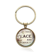 Bible Quote Keyrings with 5 Different Quotes-Free Shipping From the USA