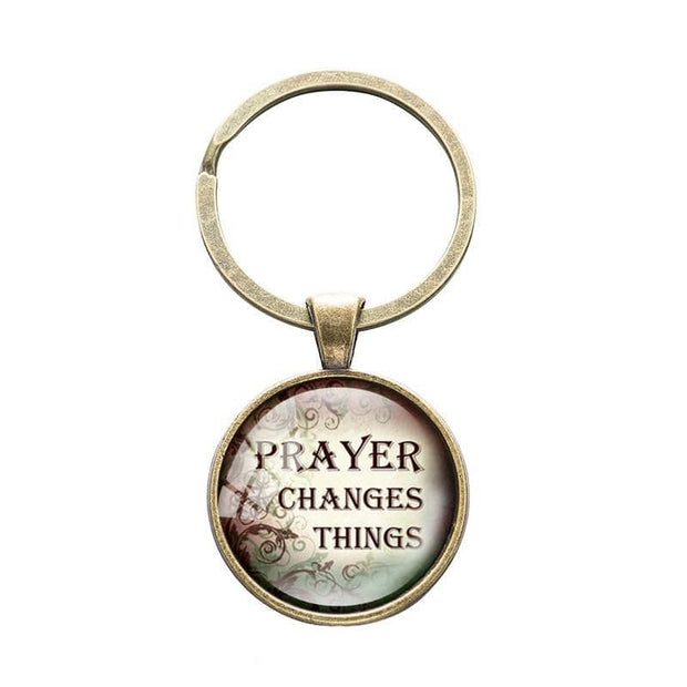 Bible Quote Keyrings with 4 Different Quotes-Free Shipping From the USA (3931781070942)