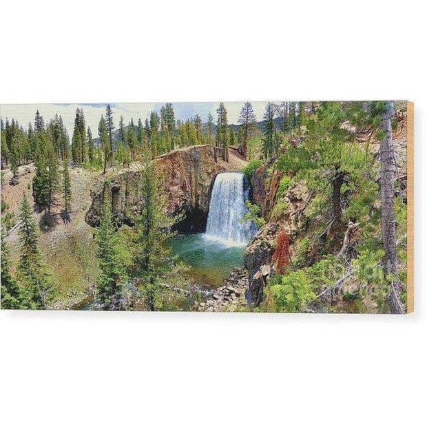 Wood Print Rainbow Falls Panoramic 14.000 x 6.250 Wood Print