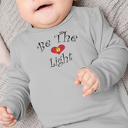 "Infant Long Sleeve Bodysuit ""Be the Light"" in 5 Colors and 4 Sizes"