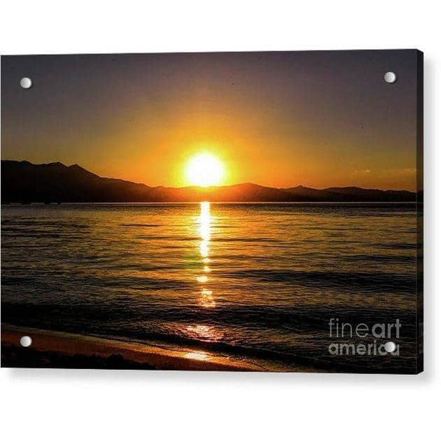 "Acrylic Print ""Sunset Lake 1"""
