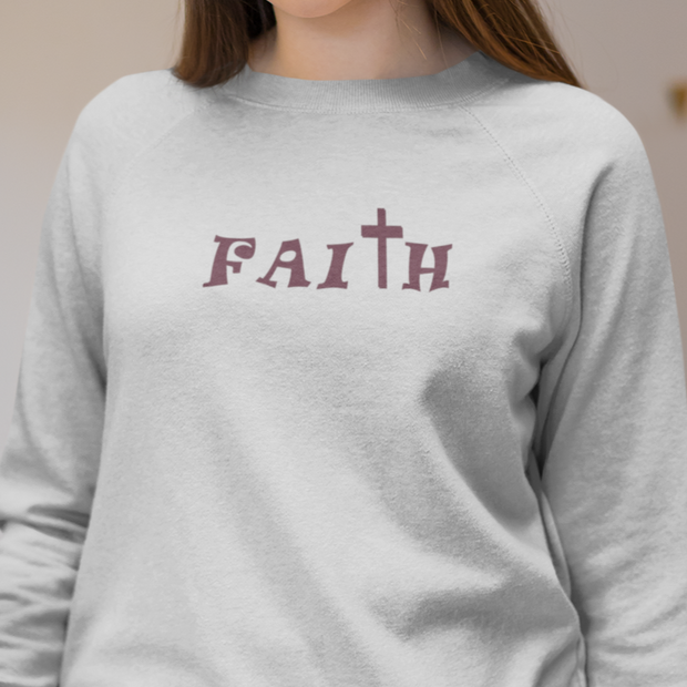 "Heavy Blend™ Crewneck Sweatshirt ""Faith"" in  12 Colors and 8 Sizes to 5XL"
