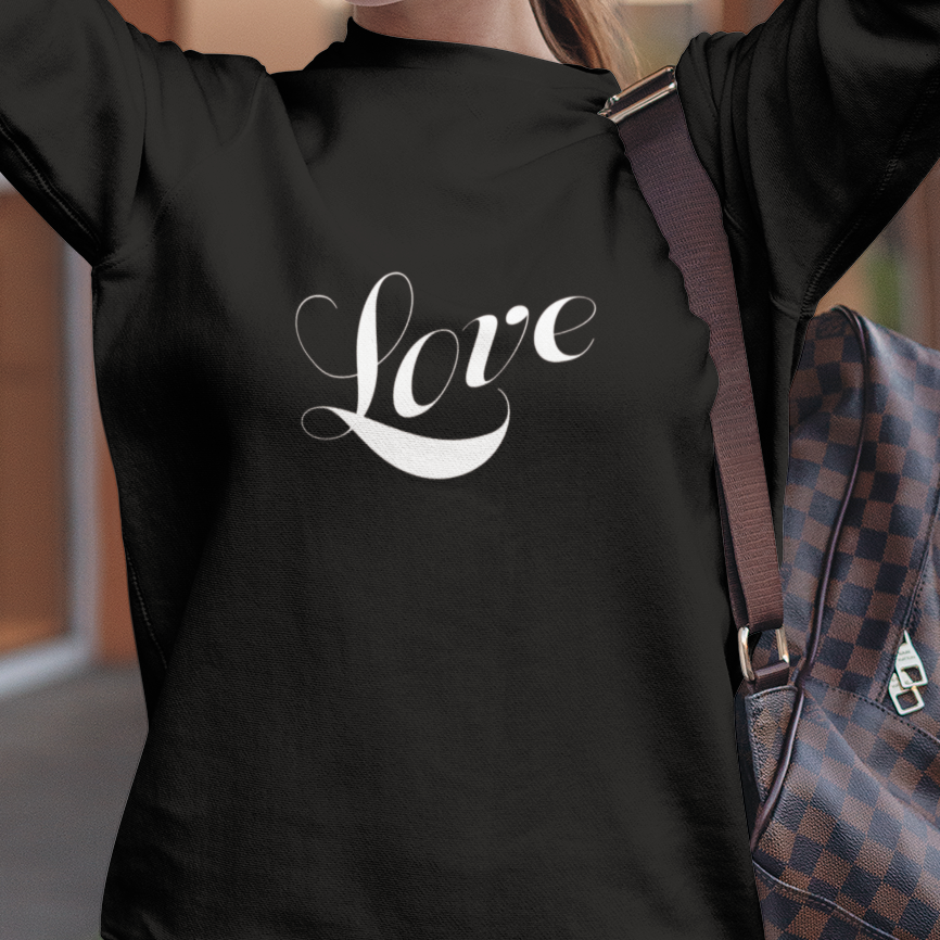 "Heavy Blend™ Crewneck Sweatshirt ""Love"" white font (4755212664926)"