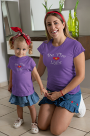 "Girls Princess Tee ""Be the Light"" in 6 Colors and 5 Sizes"