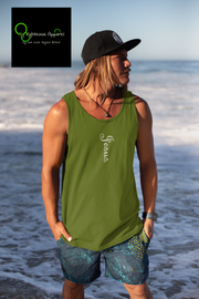 "Bella & Canvas 3480 Jersey Tank ""Jesus""in 16 Colors and 6 Sizes"