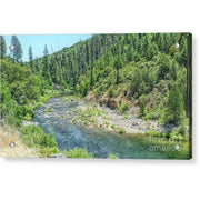 Acrylic Print The American River 12.000 x 6.875 / Aluminum Mounting Posts Acrylic Print