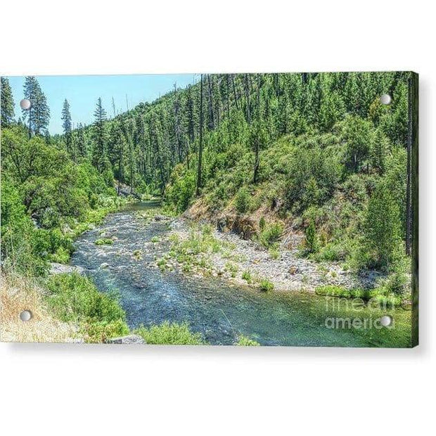 "Acrylic Print ""The American River"""