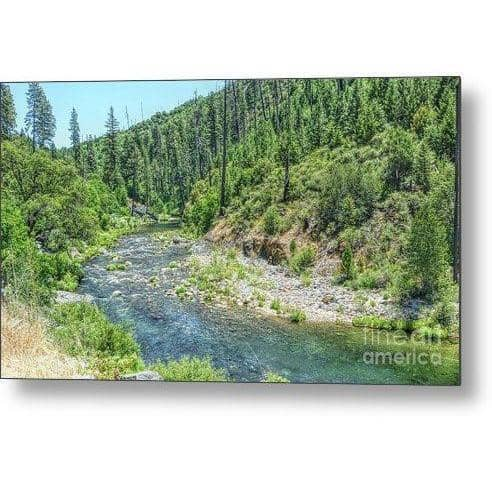 Metal Print The American River 14.000 x 8.000 Metal Print