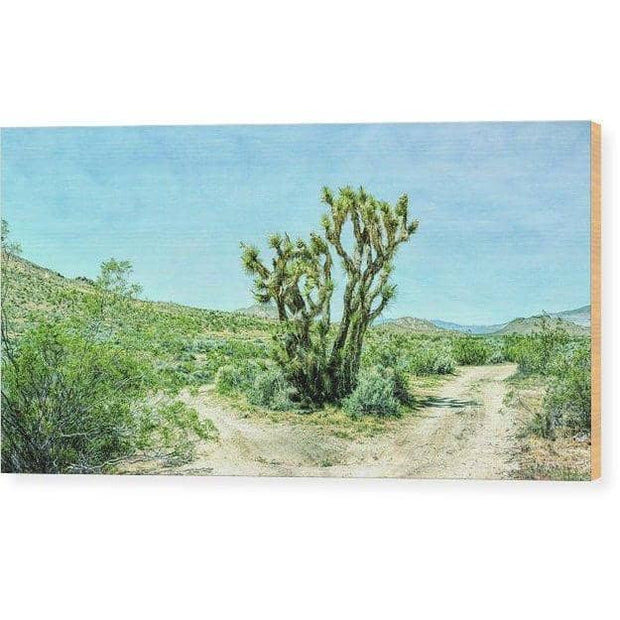 Wood Print The Joshua Tree 12.000 x 6.250 Wood Print
