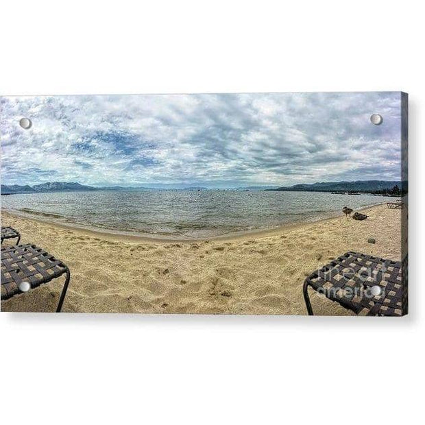 Acrylic Print The View 14.000 x 6.625 / Aluminum Mounting Posts Acrylic Print
