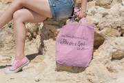 "AOP Tote Bag ""You are a Soul"" Pink in 3 Sizes"