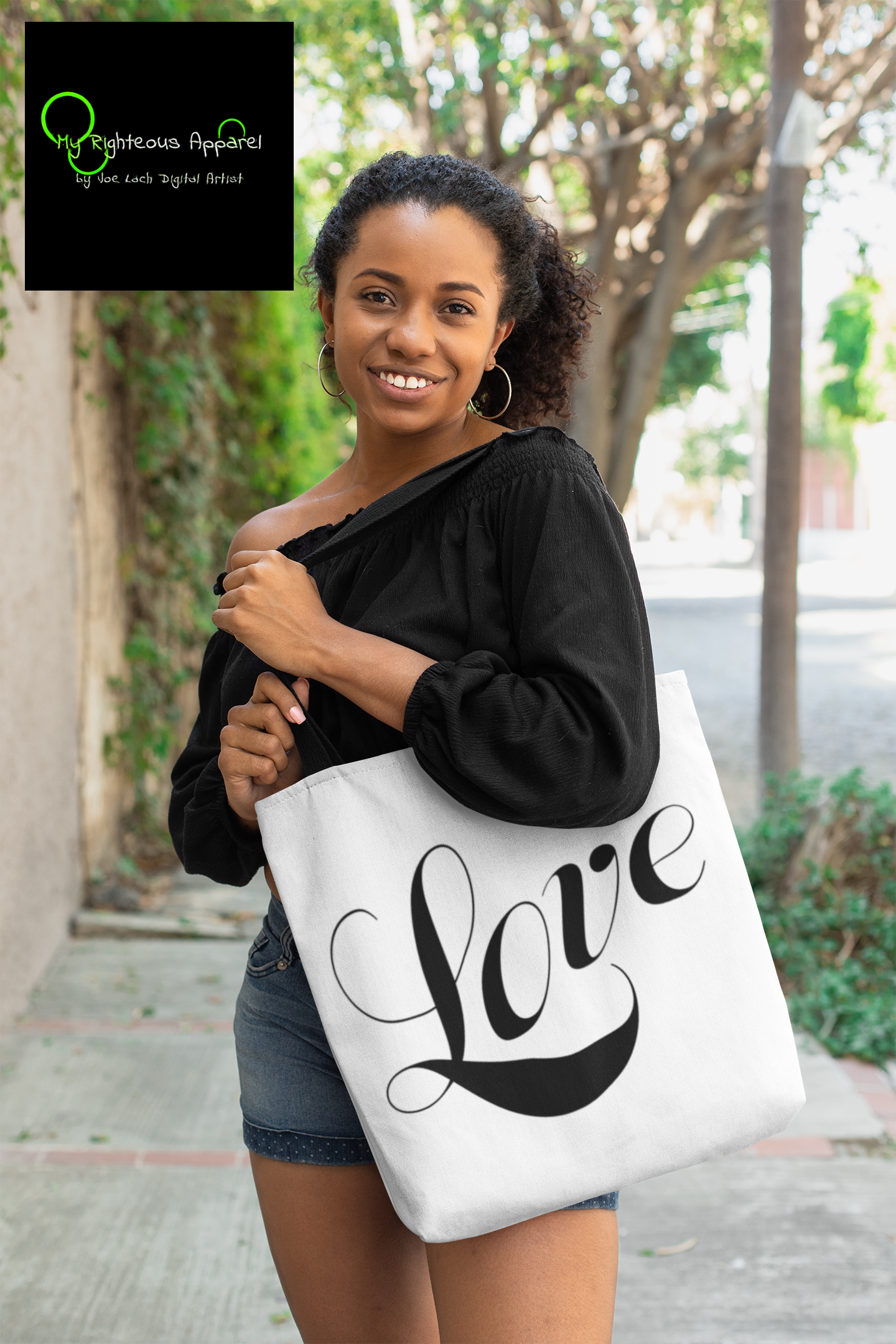 "AOP Tote Bag ""Love"" in 3 Sizes (4749655081054)"
