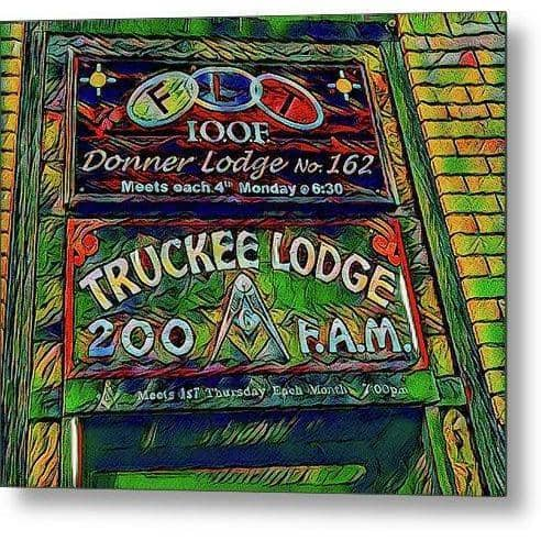 Metal Print Truckee Masonic Lodge Green Theme) 10.000 x 8.125 Metal Print