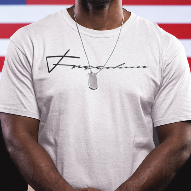 "Next Level 3600 Soft Cotton Tee ""Freedom"""" in 14 Colors and  8 Sizes"