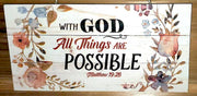 "Wall Art ""All things are Possible"" (4614818496606)"