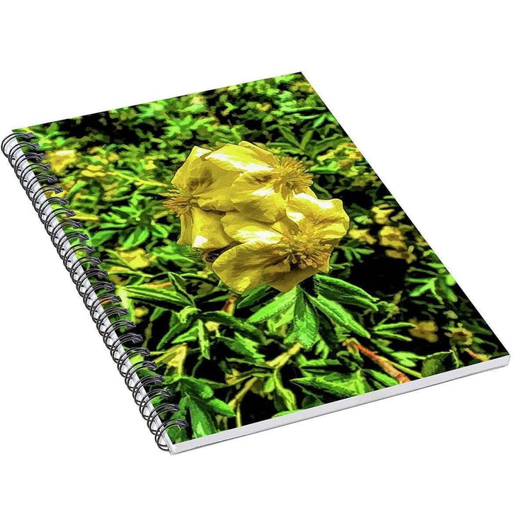 Spiral Notebook Yellow Flower Spiral Notebook (2490680049764)