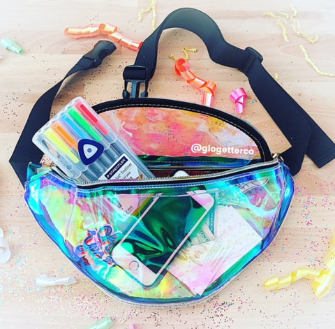 IRIDESCENT FANNY PACK - Glo Getter Cosmetics