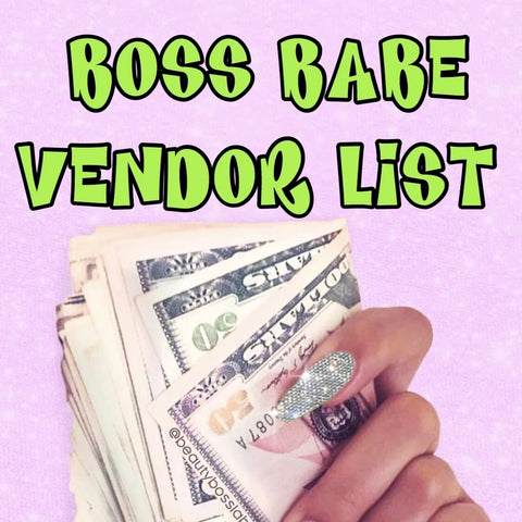 BOSS BABE VENDOR LIST
