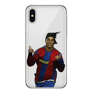 Ronaldinho - iPhone hoesje transparant