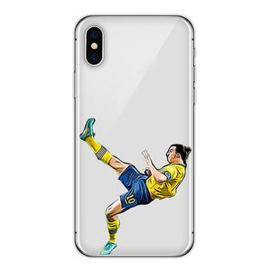 Zlatan Sweden - iPhone hoesje transparant