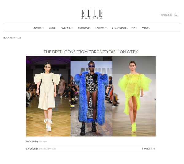 ELLE Canada: The Best Looks From Toronto Fashion Week