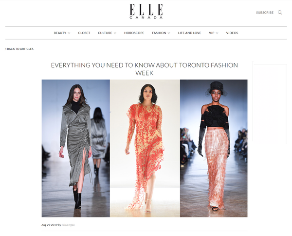 ELLE Canada: Everything You Need To Know About Toronto Fashion Week