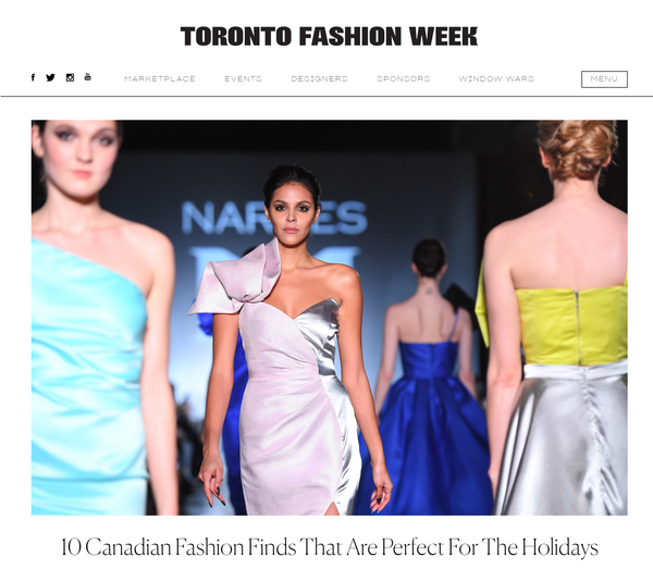 Toronto Fashion Week: 10 Canadian Fashion Finds That Are Perfect For The Holidays